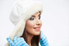 Young woman winter  style portrait, Stock Image