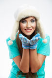 Young woman winter  style portrait, Royalty Free Stock Images