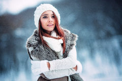 Young woman in wintertime Royalty Free Stock Photo