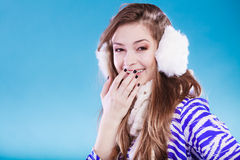Young woman in wintertime. Royalty Free Stock Photos