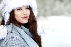 Young woman in wintertime outdoor Stock Photo