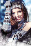 Young woman in wintertime outdoor Royalty Free Stock Photo