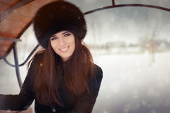 Young Woman Wintertime Portrait Stock Photography
