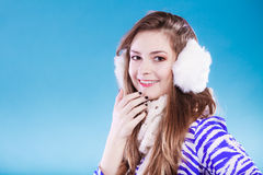 Young woman in wintertime. Royalty Free Stock Image