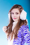 Young woman in wintertime. Royalty Free Stock Photo