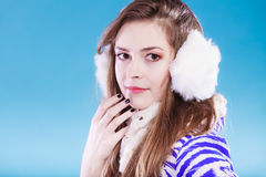 Young woman in wintertime. Stock Photo