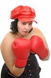 Young woman wit boxing gloves Stock Image