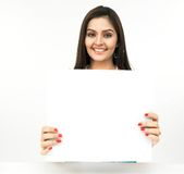 Young Woman With A Blank Placard Stock Images