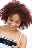 Young Woman With A Play Station Stock Image