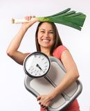 Young Woman With A Weight Scale Stock Image