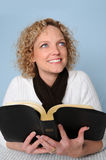 Young Woman With Bible Stock Photo