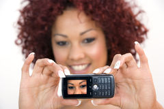 Young Woman With Cellphone Stock Images