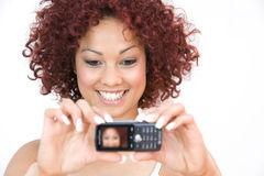 Young Woman With Cellphone Royalty Free Stock Photos