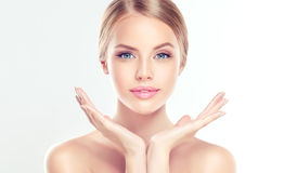 Young Woman With Clean, Fresh, Skin. Royalty Free Stock Images