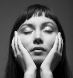 Young Woman With Closed Eyes Stock Photography