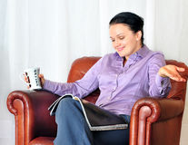 Young Woman With Cup Of Coffee Royalty Free Stock Photos