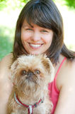 Young Woman With Dog Stock Photos