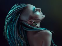 Young Woman With Dreadlocks Royalty Free Stock Photography