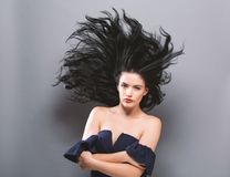 Free Young Woman With Floating Hair Royalty Free Stock Image - 100008746