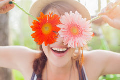 Free Young Woman With Flowers Stock Image - 41311851