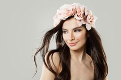 Free Young Woman With Flowers Hair Style Royalty Free Stock Photo - 110088445