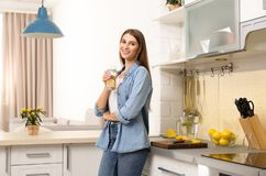 Free Young Woman With Glass Of Lemon Water Stock Photos - 166759813