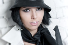 Free Young Woman With Hat Portrait Royalty Free Stock Photos - 9867048