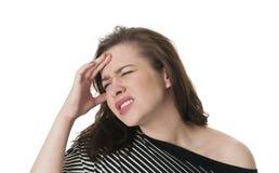 Young Woman With Migrane Headache Stock Photos