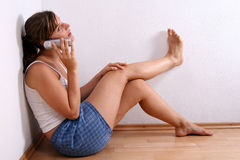 Young Woman With Phone Royalty Free Stock Photo