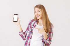 Free Young Woman With Phone Stock Images - 70410854