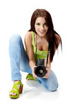 Young Woman With Photo Camera Stock Image