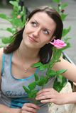 Young Woman With Rose Royalty Free Stock Photo