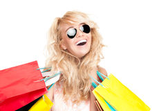 Free Young Woman With Shopping Bags. Royalty Free Stock Images - 25590419