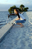 Young Woman With Video Camera Royalty Free Stock Image