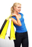 Young woman withl shoppingbags Royalty Free Stock Images