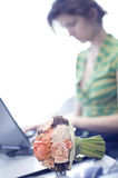 Young woman at work Stock Photography