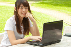 Young woman working Royalty Free Stock Photos