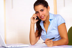 Young woman working Stock Photos