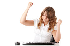 Young woman working on computer Stock Photography