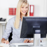 Young woman working Royalty Free Stock Images
