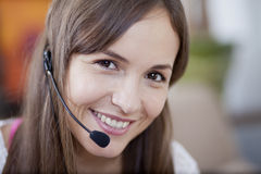 Young woman working from home Royalty Free Stock Image