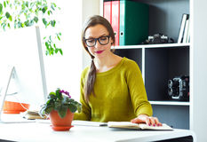 Young woman working from home - modern business concept Stock Image