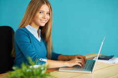 Young woman working royalty free stock photography