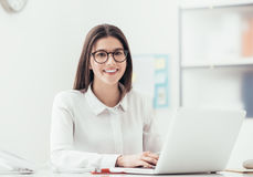 Young office worker royalty free stock image