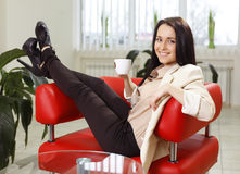 Young woman working in office Royalty Free Stock Images
