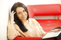 Young woman working in office Stock Images