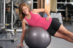 Young woman working out Royalty Free Stock Photo