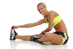 Young woman working out Royalty Free Stock Images