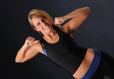 Young Woman Working Out Stock Photography