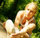 Young Woman Working Out Royalty Free Stock Photography